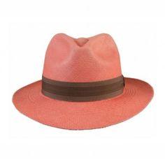Fedora Coral   Panama Hat by Prymal   100% Handmade in Ecuador   Shop it: www.shoplatitude.com