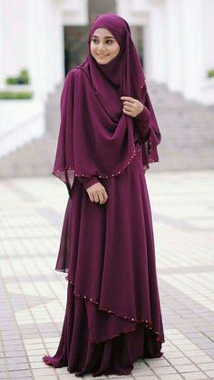Fashion Arabic Style Illustration Description Amazing 42 Beautiful Hijab Fashion to Copy Right Now from www. Hijab Style Dress, Hijab Outfit, Dress Outfits, Abaya Fashion, Fashion Dresses, Modest Fashion, Fashion Men, Habits Musulmans, Moda Hijab
