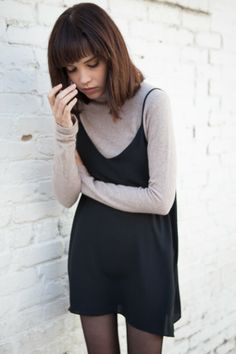 Cami dress + long sleeve tee.