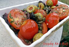 ~Quick Tomato  Olive Salad~ A simple yet scrumptious side dish perfect for any summer supper, party or barbecue!