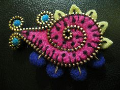 A sweet little paisley brooch | Flickr - Photo Sharing!