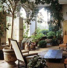 The Greenery Living Room | [Axel Vervordt]