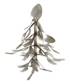 Small Christmas Tree Spoon and Fork Art Fork Art, Spoon Art, Small Christmas Trees, All Things Christmas, Silverware Art, Forks And Spoons, Scrap Metal Art, Decoration Piece, Horse Sculpture