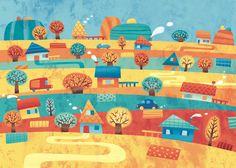 Illustrations for kids by Silvia Sponza, via Behance