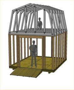 10' wide gambrel truss plans