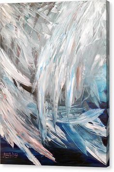 Angel Wings Painting, Angel Wings Art, Angel Art, Angel Paintings, Heart Painting, Abstract Canvas, Canvas Art, Angel Pictures, Fine Art America