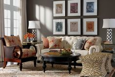 Living Room | Shop by Room | Ethan Allen. Linen tufted sofa.