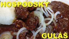 Hospodský guláš - YouTube Czech Recipes, Ethnic Recipes, Goulash, Grilling, Beef, Youtube, Food, European Countries, Czech Republic