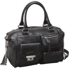Authentic Calvin Klein Bag Black Leather Satchel Handbag-$219.99
