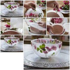 Wie süß ist das bitte... Rosen-Eis-Schale