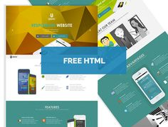 Free Ophiuchus HTML Template perfect for Mobile App presentation.