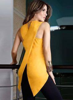 Fashion Women Ladies Blouses Summer Sleeveless Slim chiffon Blouse Casual Irregular Shirt Tops Asymmetry shirt tops blusas Plus Yellow Blouse, Yellow Top, Color Yellow, Yellow Black, Pink White, Color Black, Outfit Trends, Casual T Shirts, Casual Tops