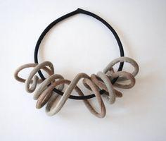 Textil-Schmuck / Anweisung Fiber Halskette / 2 von MaterialAtelier