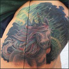 olio.tattoo Unicorn Tattoo by Cavan from No Egrets Tattoo Studio - Clarksville, TN #unicorn -- More at: https://olio.tattoo/tattoo-images/mentions:unicorn
