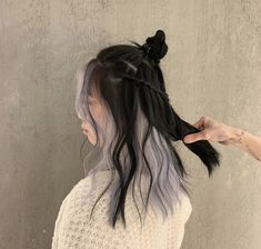 Vivid Hair Color, Hair Color Streaks, Hair Dye Colors, Hair Highlights, Hair Color Underneath, Under Colour Hair, Hair Inspo, Hair Inspiration, Coloured Hair