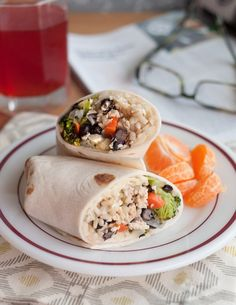 Roasted Veggie Burritos with Black Beans and Rice (15 Vegetarian Freezer Meals for Easy Weeknight Dinners)