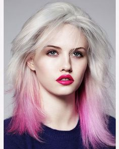 Platinum Blonde Hair with Pink Shades   Full Dose
