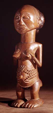 Luba: female ancestral carved statue [Credit: Courtesy of the Musée du Quai Branly (formely the Musée de l'Homme), Paris]