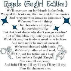 royals fangirl parody - Google Search