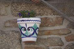 #bleu #dcors #faience #mur #pot de fleurs #urbain #ville