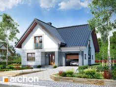 Dom w miłowonkach Bungalow Conversion, Dream House Plans, Modern House Design, Home Fashion, My House, Cabin, Mansions, Architecture, House Styles