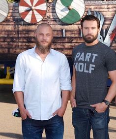 Travis Fimmel and Clive Standen | San Diego Comic Con 2015 (photo from History channel)