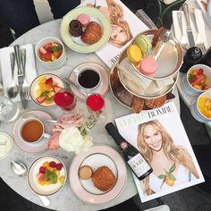 Cherry Bombe x Ladurée #bombeshellbreakfast with the best girls  Thank you for having us @cherrybombemag @gilliehouston @ladureeus  by ediblemoments