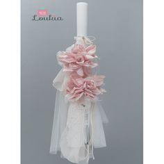 """Στολισμένη λαμπάδα βάπτισης θέμα """"Λουλούδια"""" οικονομική-μοντέρνα σε λευκές/ροζ αποχρώσεις, Βαπτιστική λαμπάδα """"Λουλούδια"""" τιμές-προσφορά, Στολισμένη λαμπάδα βάπτισης κορίτσι, Οικονομικές λαμπάδες βαπτιστικές για κορίτσι στολ Home Decor, Light Bulb Vase, Decoration Home, Room Decor, Home Interior Design, Home Decoration, Interior Design"""