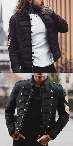 fall 2019 fashion trends Men's Winter Black Jacket Men's casual and comfy jackets for fall and winter, you can choose vintage style and modern fashion style. Herren Winter, Mens Winter, Winter Coats For Men, Vintage Fashion, Modern Fashion, Vintage Style, Style Masculin, Herren Outfit, Winter Mode