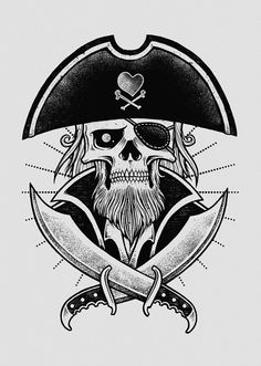 Love Pirate by inkcorf, via Behance