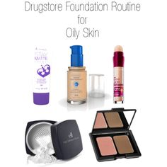 Drugstore foundation routine for oily skin