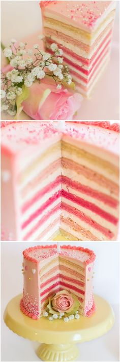 Frau Zuckerfee: Rezept + Anleitung für eine Regenbogentorte; Torten verzieren für Anfänger (Baking Desserts Cupcakes)
