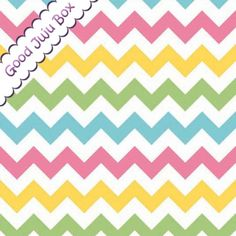 Tissu de zigzags de la collection Chevrons de Riley Blake.  Bonne qualité.