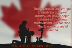 To our Canadian Veterans you made our country proud you made it great I salute you!