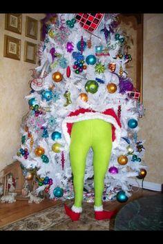 Stuffed leggings cutest Christmas tree idea ever!