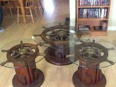 ship wheel tables