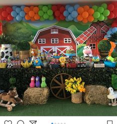 Farm Themed Party, 2nd Birthday Party Themes, Barnyard Party, Kids Party Themes, Farm Party, Birthday Party Decorations, Farm Animal Party, Farm Animal Birthday, Farm Birthday