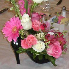f4f20446ecf Ceramic High Heel Vase Centerpiece High Heel Shoe Vase Zebra Centerpieces