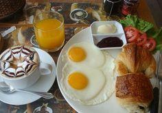 Завтрак - овсянка, сыр