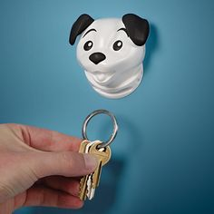 """Keep a leash on your keys.    Mounts directly to awl, includes keyring.     Measures 3 x 4"""".  $8"""