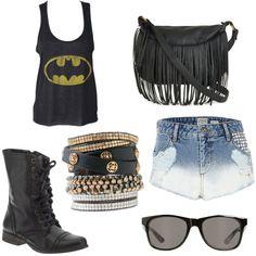 batman and studded shorts...love it
