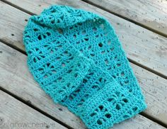 Classy Crochet: Cube Infinity Scarf Pattern - in the spider stitch that I love