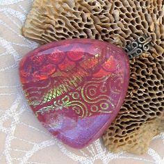 Dichroic Pendant Fused Glass Jewelry Electric by GlassMystique, $25.00