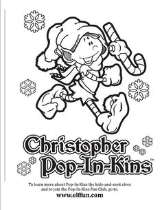 Christopher Pop-In-Kins Coloring Page 1, via Flickr.