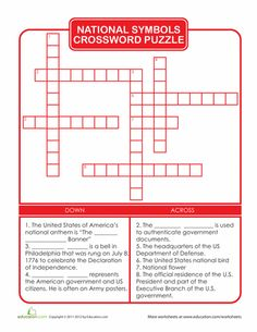 Fullchartg 400300 symbols pinterest symbols worksheets national symbols crossword puzzle urtaz Image collections