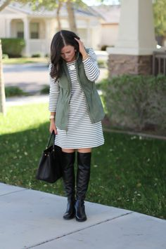 A Utility Vest + Stripes | The Northeast Girl | Bloglovin'