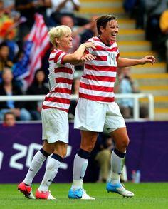 USA Women's Soccer-Rapinoe and Wambach!