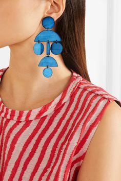 Annie Costello Brown   Pompom oxidized earrings   NET-A-PORTER.COM