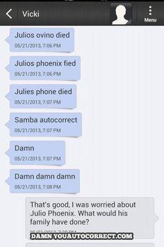funny auto-correct texts - Que?