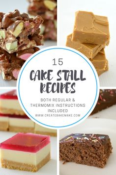 15 Cake Stall Recipes 15 delicious and easy recipes for your next cake stall or bake sale. Thermomix instructions also included. Easy Caramel Fudge Recipe, Easy Caramel Slice, Fudge Recipes, Cake Recipes, Tea Recipes, Salad Recipes, Amazing Chocolate Cake Recipe, Best Chocolate Cake, Nutella
